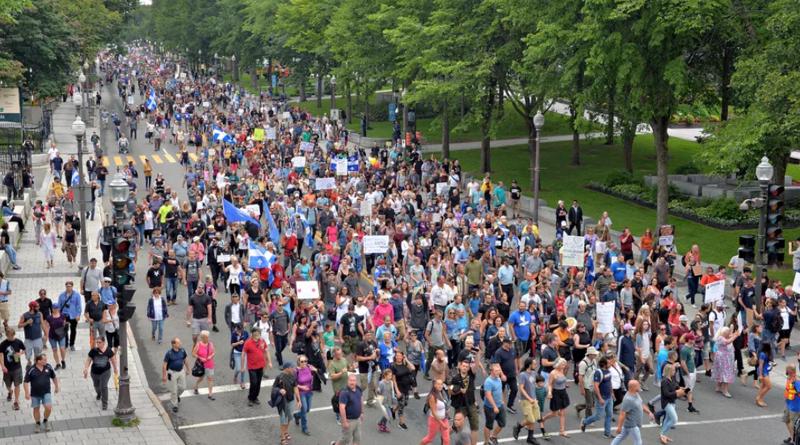 Marche du 23 juillet à Québec