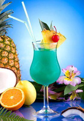 Blue-Hawaiian Cocktail