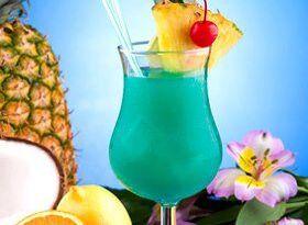 Blue-Hawaiian Cocktail
